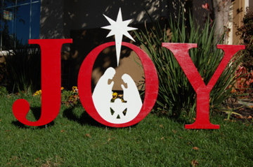 This Past Weekend Carol And I Bought The Supplies To Make A Joy Nativity Outdoor Christmas Yard Sign As Was Cutting Out Letters For