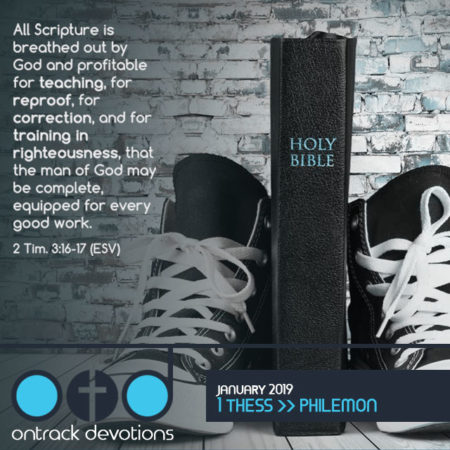 On Track Devotions – January (1 Thessalonians – Philemon)